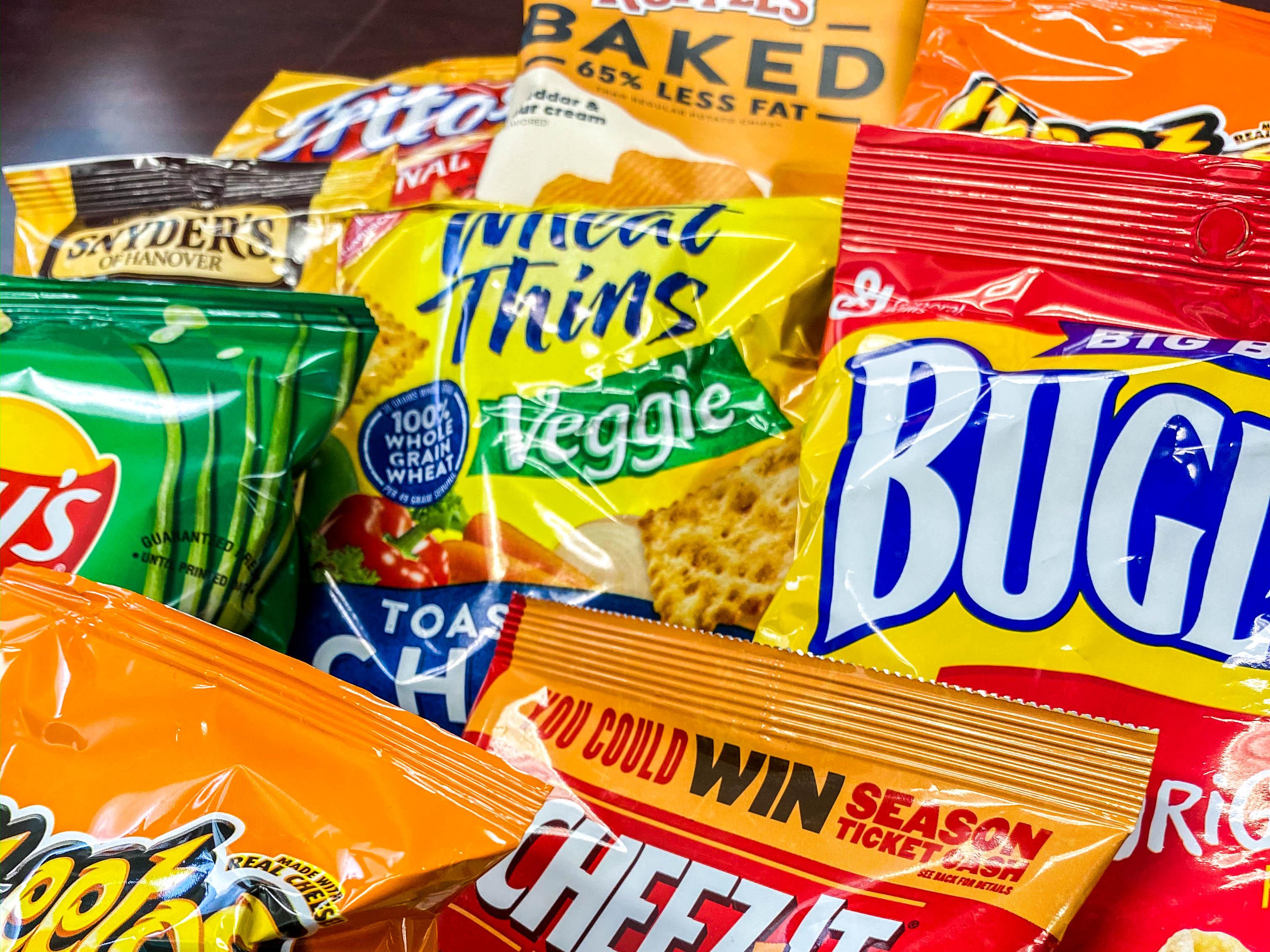 Snack vending selection from Breaktime Beverage