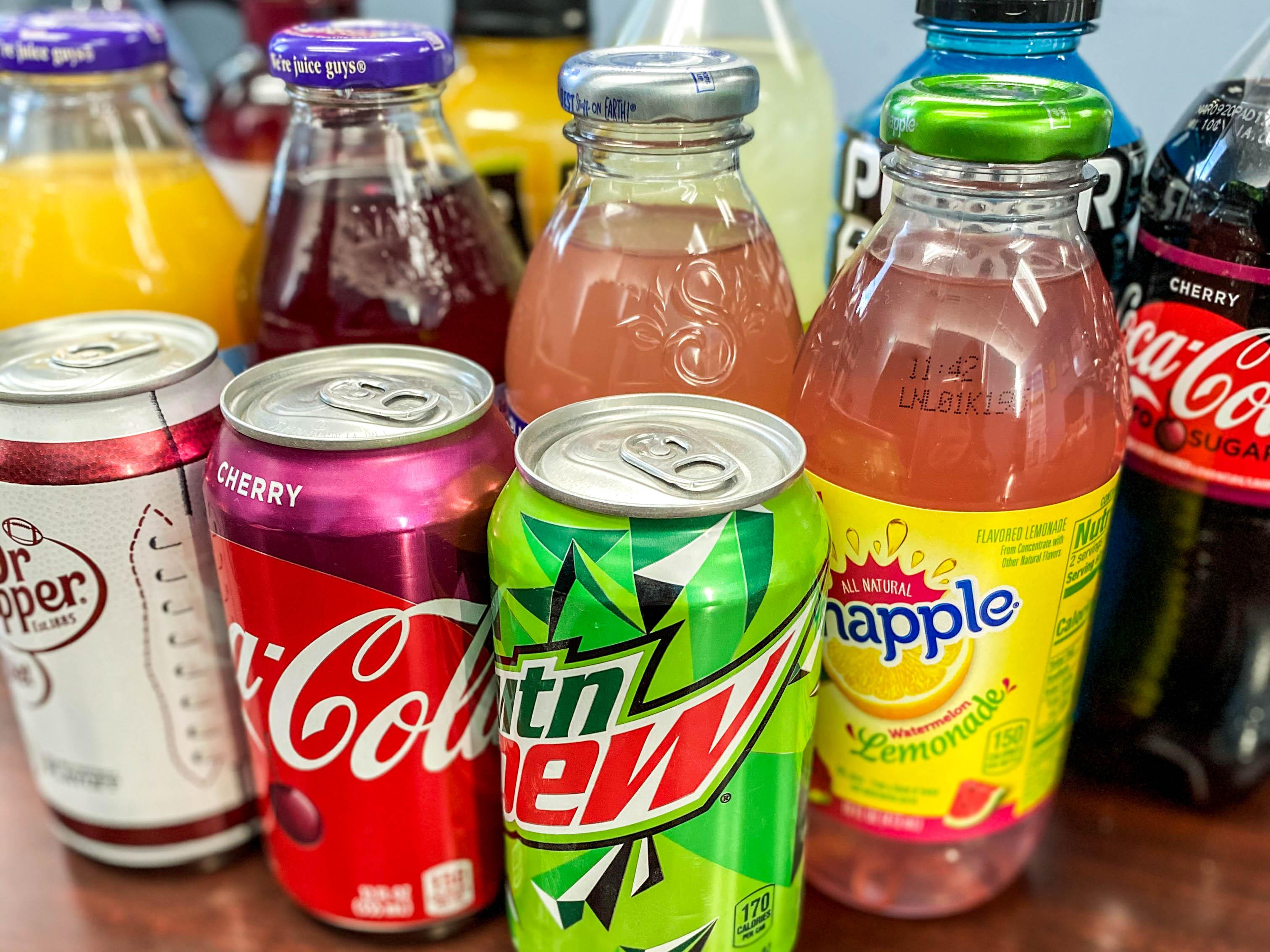 cold beverage selection from Breaktime Beverage