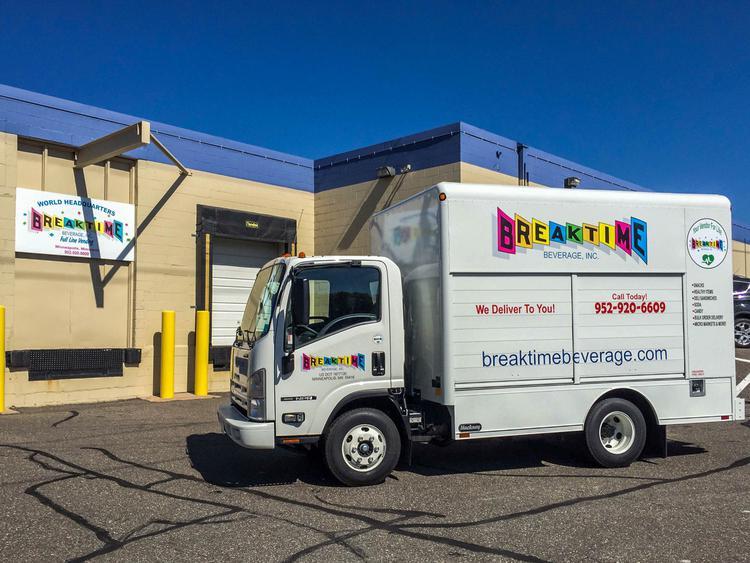 Breaktime Beverage delivery van.