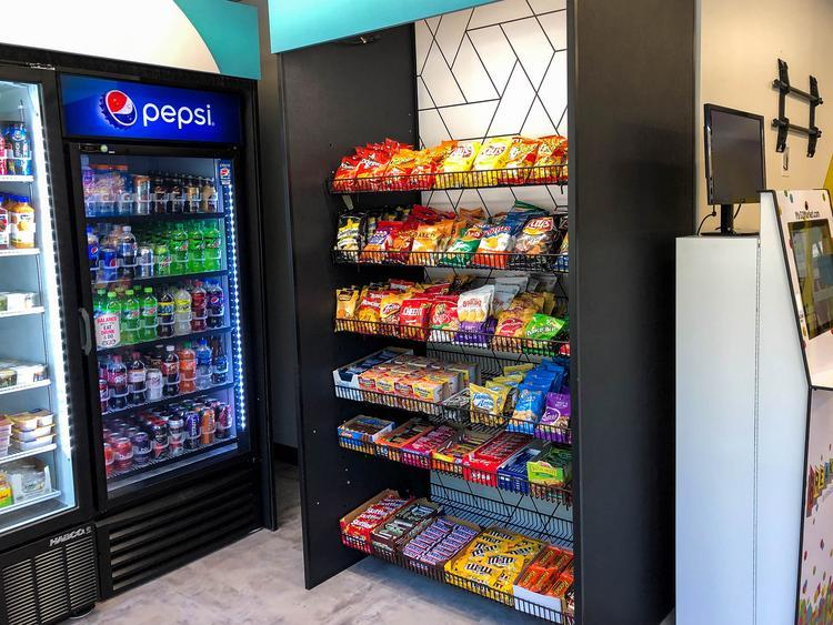 Micro Market vending setup.
