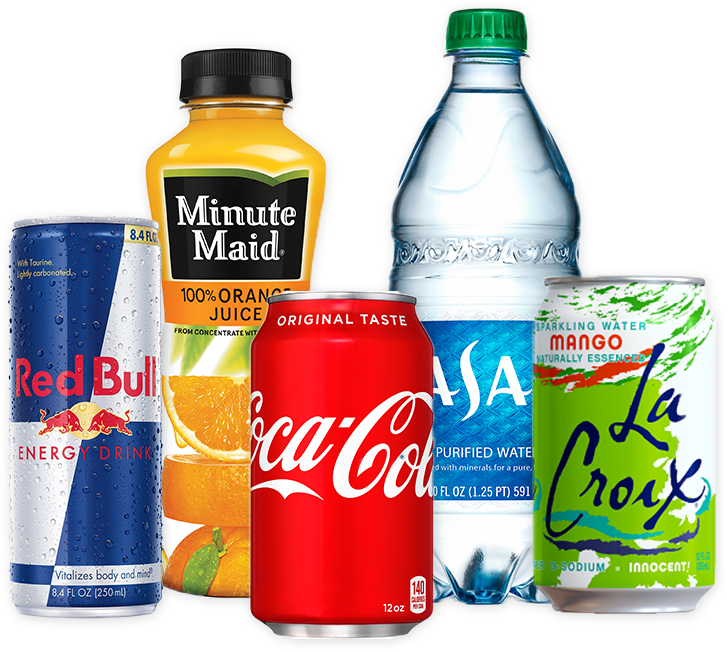 Cold beverage vending selection offered by Breaktime Beverage