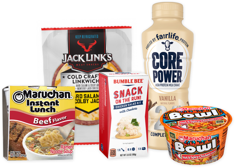Frozen food vending options from Breaktime Beverage